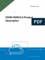 ZXHN F609(V2.0) Product Description _20170110 (1)