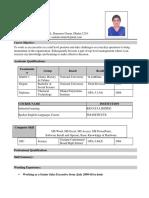 Saimun Islam CV