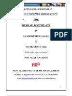 consumer behaviour report on meswak toothpaste
