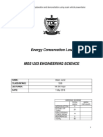 MSS1253 Assignment - Energy Conservation Law