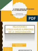 Relaciones a Otros Niveles Superiores de La Organización