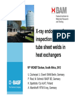 Xray inspection of tube welds