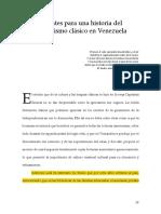 Apuntes Para Una Historia Del Humanismo Clásico en Venezuela