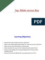 Outsourcing Make vs Buy