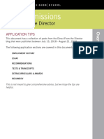 Direct From the Director Application Tips(1)