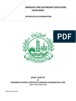 Faisalabad Matric Result 2019 Announced