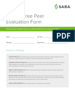 360 Degree Peer Evaluation Form