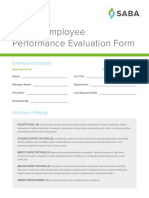 Annual Employee Performance Evaluation Form
