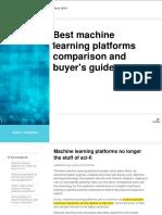 Best Machine Learning Platform Comparison