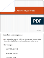 2.1 2.2 8086 − Addressing Modes and instruction set