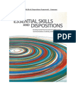 5) Essential Skills & Dispositions Framework - Notes