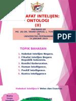 3. Filsafat Intelijen Ontologi-II (15 Jan 2019)