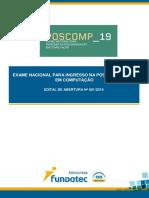 Edital do POSCOMP 2019