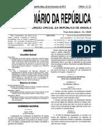 Lei 3-14 Criminalização Ao Branquemento de Capitais