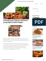 4 Resep Ayam Geprek Istimewa Yang Dijamin Bikin Nagih!