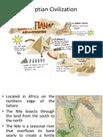 HoA Lecture 5- Egyptian Civilization
