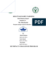 Report on Dairy Farming  Business