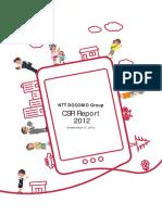 Ntt 2012 Csr Report
