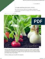 Manual Para Cultivar Hortalizas en El Patio