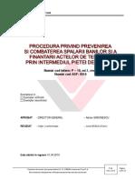 P-16 Procedura Privind Prevenirea Si Combaterea Spalarii Banilor Si a Finantarii Actelor de Terorism Prin Intermediul Pietei de Capital