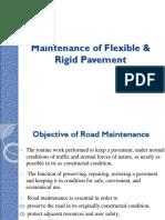 Maintenance of Flexible & Rigid Pavement