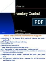 Inventory Control Model II