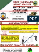 ASIENTO CONTABLE Y PLAN CONTABLE GENERAL EMPRESARIAL