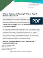 Best Retirement Financial Advisor in Nashik | Retirement Consultant near Me