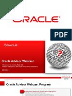 Oracle Advisory Webcast Program