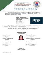 Certification Nstp