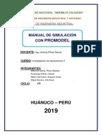 Manual de Simulación Con Promodel