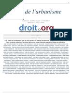code de l'urbanisme français