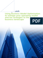 Using Business Model Optimization to Reshape Your Operating Model and Tax Strategies to the Modern Business Landscape