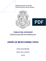 DISEÑO DE MICROTURBINA TURGO