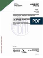 ABNT NBR 17505-2 - Armazenamento de Líquidos Inflamáveis