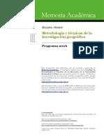 Metodología y técnicas de la Investigación Geográfica