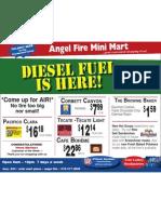 Angel Fire Mini Mart Specials 11/9/2010