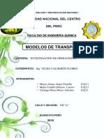 MONOGRAFIA MÉTODOS DE TRANSPORTE INVESTIGACIÓN DE OPERACIONES
