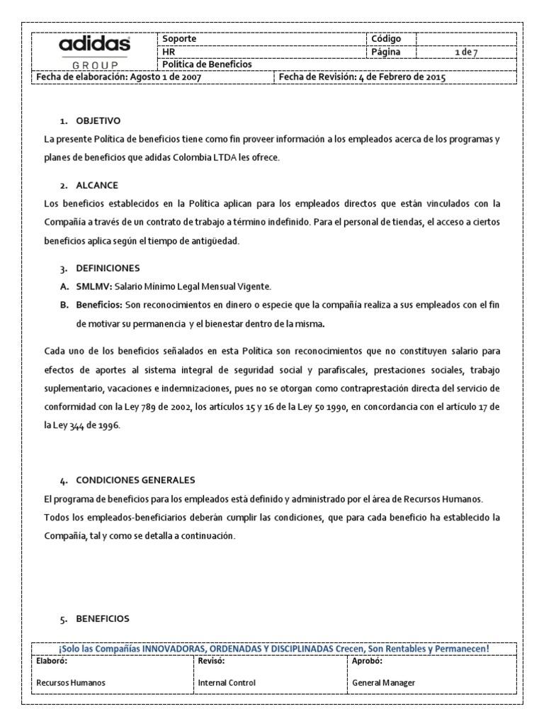 Corte de pelo Skalk Significado  Politica de Beneficios Adidas | Salario | Póliza de seguros
