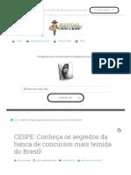 CESPE_ Conheça Os Segredos Da Banca de Concursos Mais Temida Do Brasil!