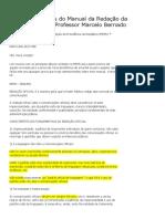 PRINCIPAIS Tópicos Do Manual Da Redação Da Presidência