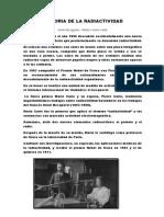 Historia de La Radiactividad