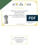 Certificado Kanto Da Arte DAIANE