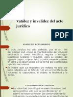 Validez y Invalidez Del Acto Jurídico