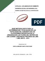 Bases Metodologica Para Determinar Las Fallas en Losas Deportivas de La Urbanizacion Las Flores