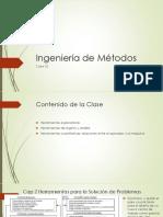 Ingeniería de Métodos Clase 02