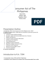 Consumer act of the Philippines Notes