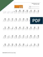 Web Math Minute Add 15
