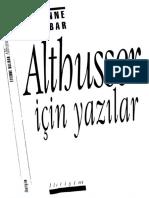 Etienne Balibar - Althusser için Yazilar.PDF