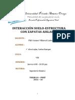 Interaccion Suelo Estructura Con Zapatas Aisladas